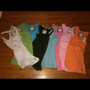 Abercrombie lot of assorted color tanks